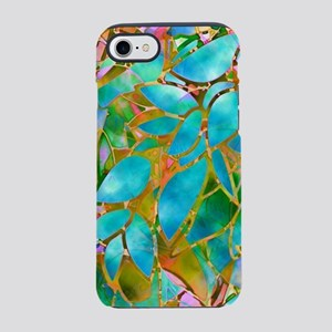 Floral Stained Glass 1 iPhone 7 Tough Case