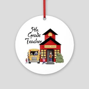 5th Grade Teacher Ornament (Round)