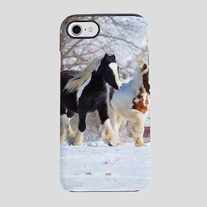 Snow ponies iPhone 7 Tough Case