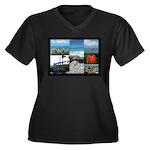 Sint Maarten Women's Plus Size V-Neck Dark T-Shirt