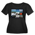 Sint Maa Women's Plus Size Scoop Neck Dark T-Shirt