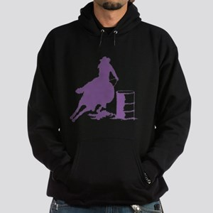 Purple Barrel Racer Female Rider Hoodie (dark)
