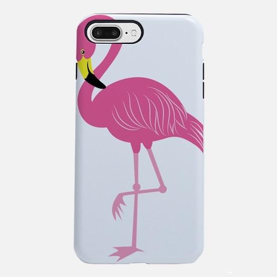 Pink Flamingo iPhone 7 Plus Tough Case