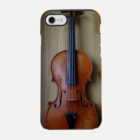 Violinoverwoodfloor.jpg iPhone 7 Tough Case