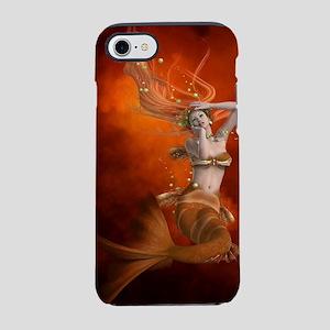 mermaid in red iPhone 7 Tough Case