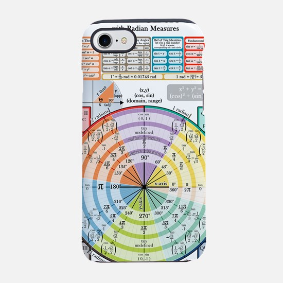 Unit Circle (with Radians) iPhone 7 Tough Case