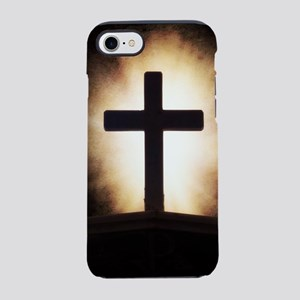 cross on fire iPhone 7 Tough Case