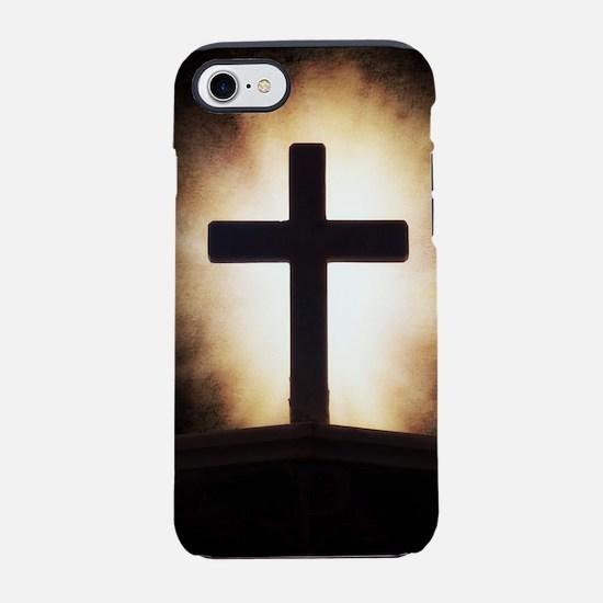 cross on fire iPhone 7 Tough Case