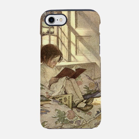 Vintage Books in Winter, Child iPhone 7 Tough Case