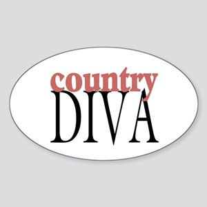 Country Diva Oval Sticker
