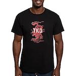 Taekwondo Dragon Men's Fitted T-Shirt (dark)