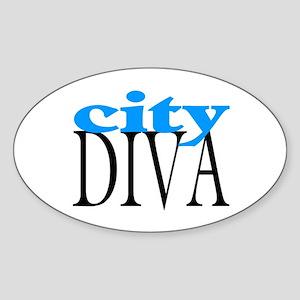 City Diva Oval Sticker