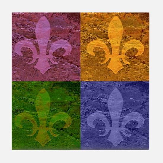 Fleur De Lis Art - Tile Coaster