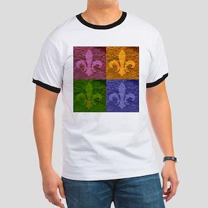 Fleur De Lis Art - Ringer T