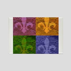 Fleur De Lis Art - Rectangle Magnet
