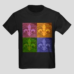 Fleur De Lis Art - Kids Dark T-Shirt