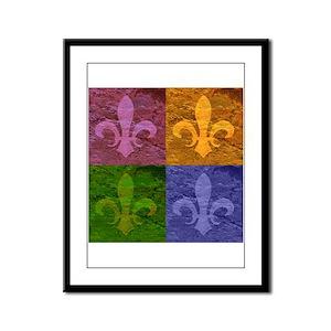Fleur De Lis Art - Framed Panel Print