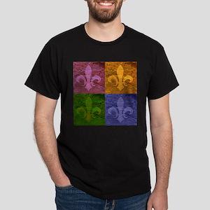 Fleur De Lis Art - Dark T-Shirt