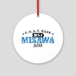 Misawa Air Force Base Ornament (Round)