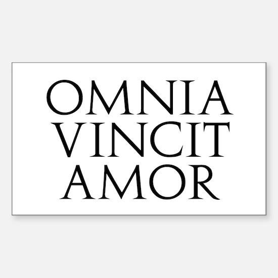 Omnia Vincit Amor Rectangle Decal
