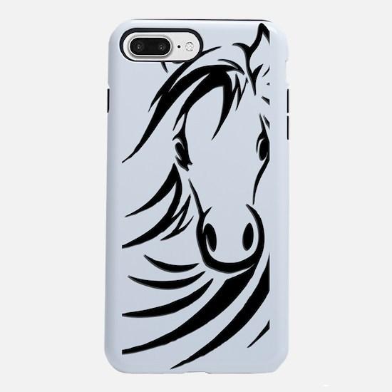 Black Horse  iPhone 7 Plus Tough Case