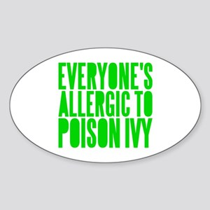 Poison Ivy Oval Sticker