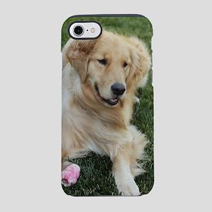 frisky golden retriver iPhone 7 Tough Case