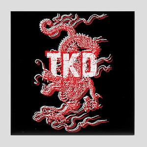 TKD Dragon Black Tile Coaster