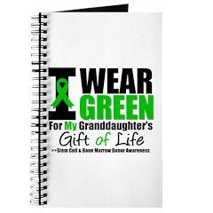 I Wear Green Granddaughter Journal