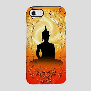 Buddha on mysical background  iPhone 7 Tough Case