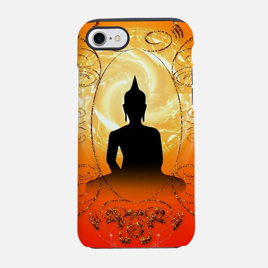 Buddha on mysical background  iPhone 7 Tough Case