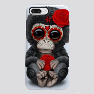 Red Day of the Dead Sugar iPhone 7 Plus Tough Case