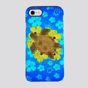 Hawaiian Turtle Nautical Map iPhone 7 Tough Case