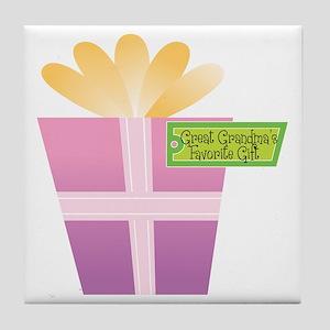 Great Grandma's Favorite Gift Tile Coaster
