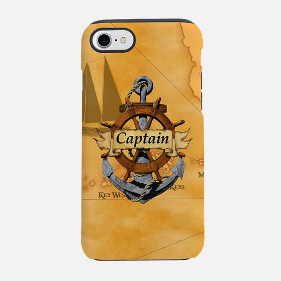 Captain Anchor And Wheel iPhone 7 Tough Case