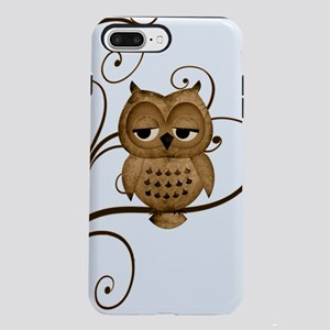 Brown Swirly Tree Owl iPhone 7 Plus Tough Case