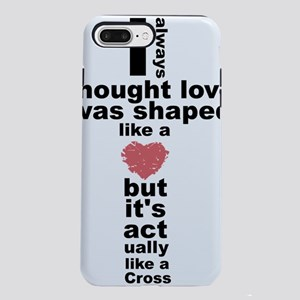 Love is shaped like a cro iPhone 7 Plus Tough Case