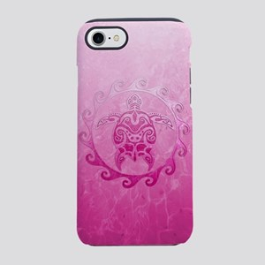 Pink Tribal Turtle Sun iPhone 7 Tough Case