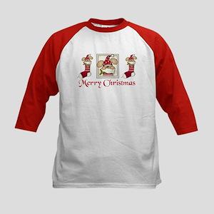 Christmas stocking Kids Baseball Jersey