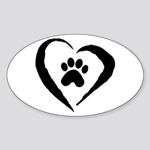 Heart Oval Sticker