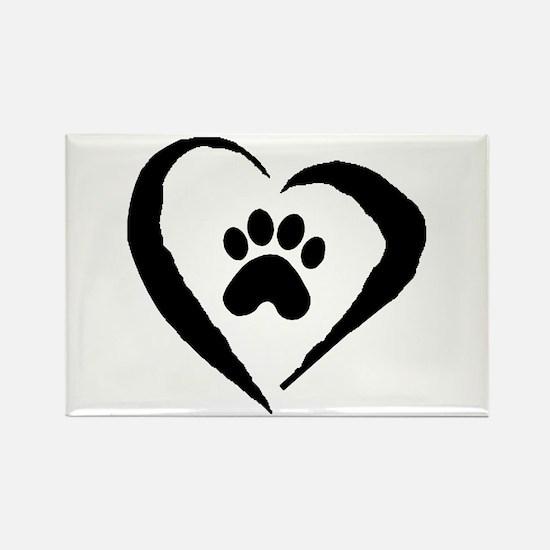 Heart Rectangle Magnet (100 pack)