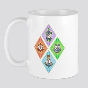 4 clown diamond Mug