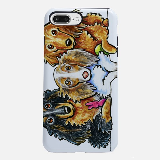 3 Longhaired Dachshunds iPhone 7 Plus Tough Case
