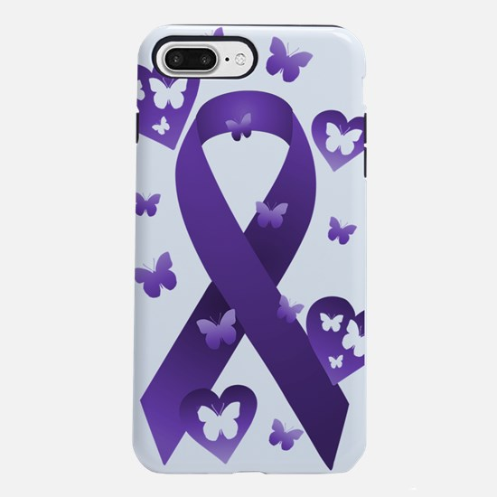 Purple Awareness Ribbon iPhone 7 Plus Tough Case