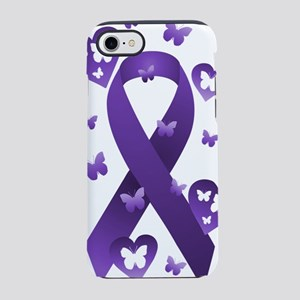 Purple Awareness Ribbon iPhone 7 Tough Case