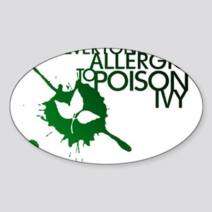 Poison Ivy II Oval Sticker