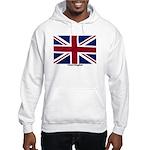 Union Jack Flag Hooded Sweatshirt