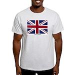 Union Jack Flag Ash Grey T-Shirt