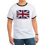 Union Jack Flag Ringer T