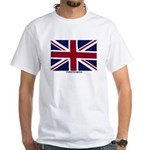 Union Jack Flag White T-Shirt